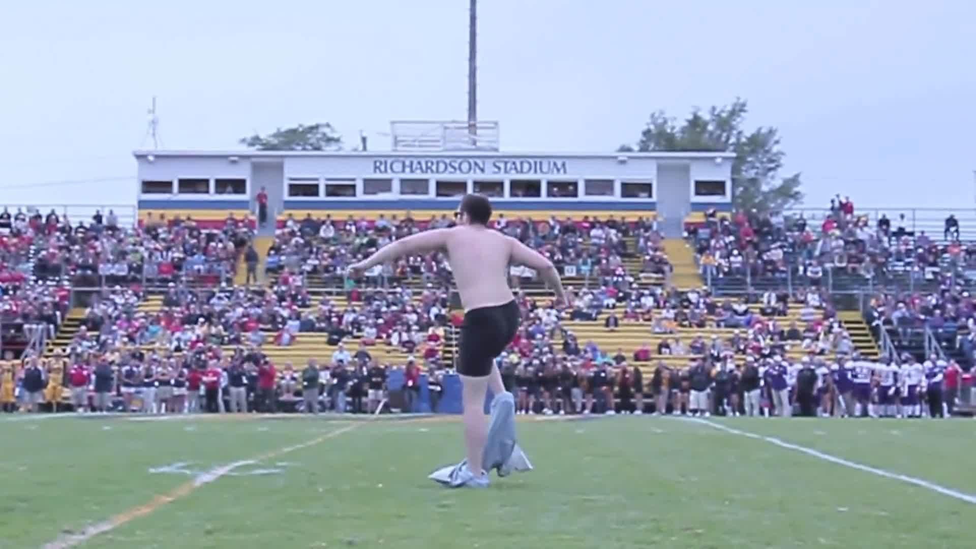 Streaker Interrupts Ysleta High School Homecoming Game