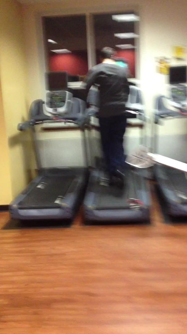 Apologise, busty chick on a treadmill all business. Wonderfully!