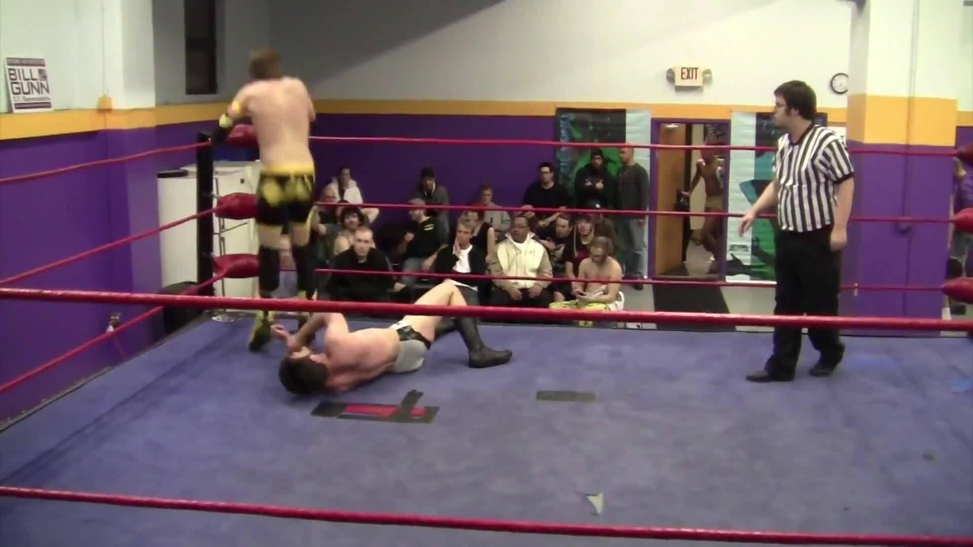 wrestler performs back breaking move on female opponent jukin media