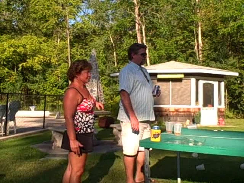 dizzy bat crash guy wrecks beer pong table jukin media