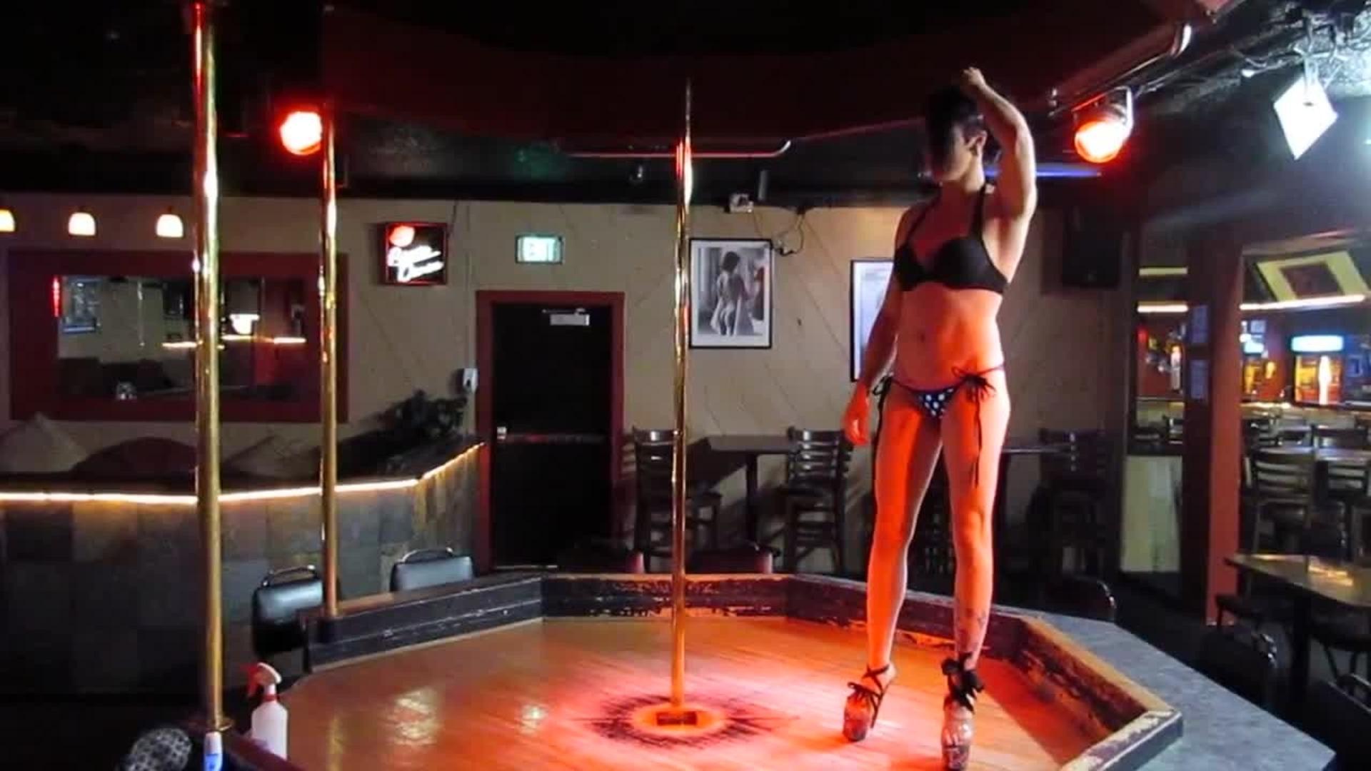 Stripper pole aerobics