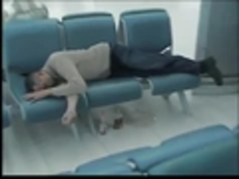Drunk Man Wets Himself at Airport