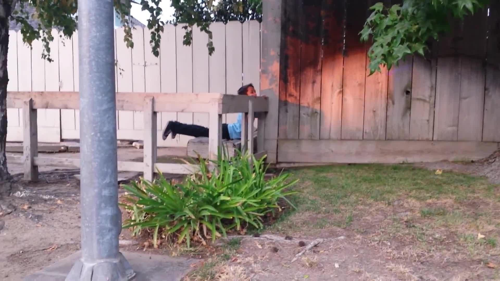 kid jumping fence gets hung up jukin media