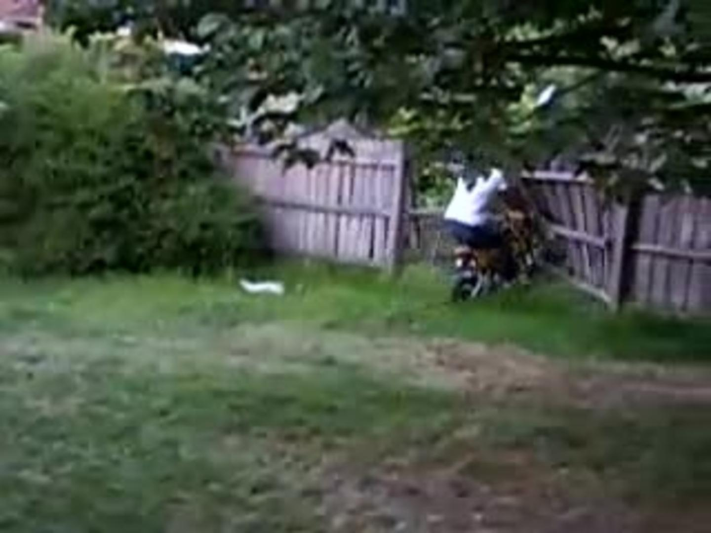 mom rides dirt bike and crashes into fence jukin media