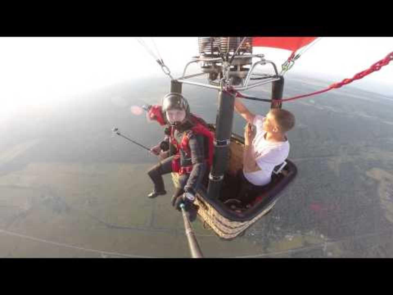 Guy Parachutes off Hot Air Balloon | Jukin Media