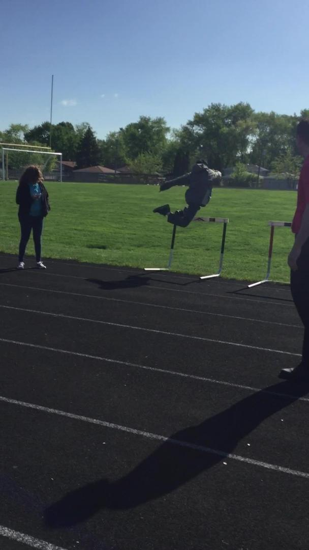 Teen Cant Jump Over Hurdle