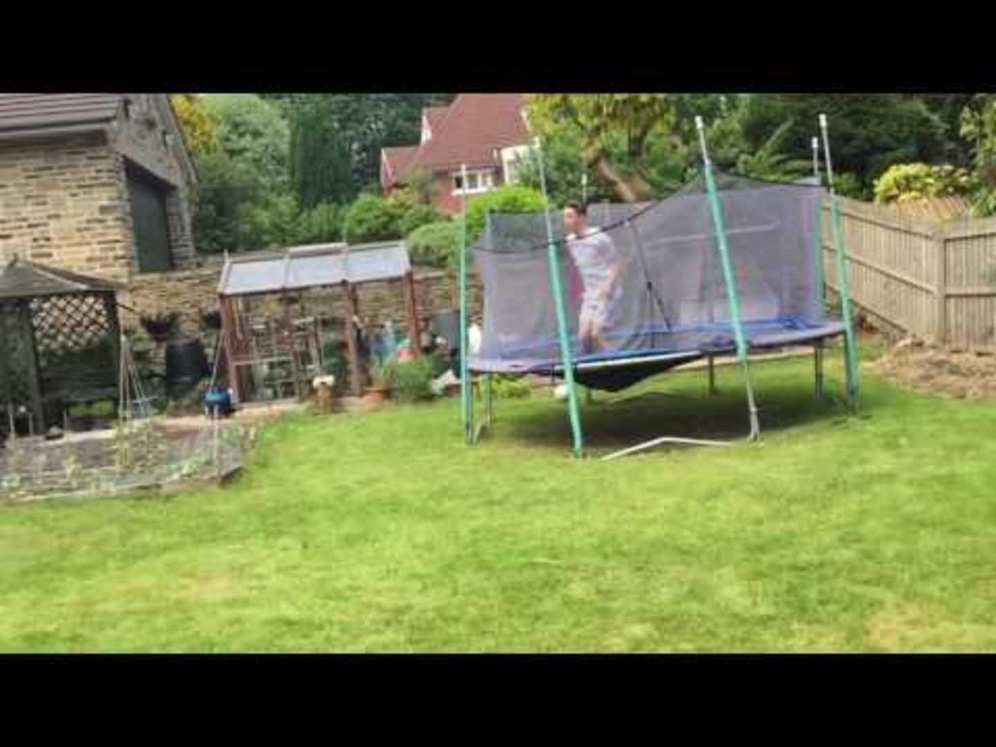 bounces off trampoline and scorpions onto ground jukin media