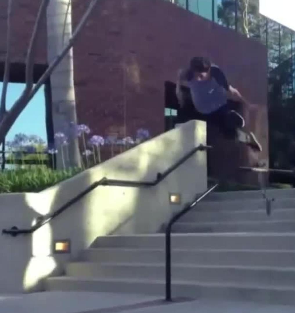 skateboarding faceplant off rail slide multiple angles jukin media
