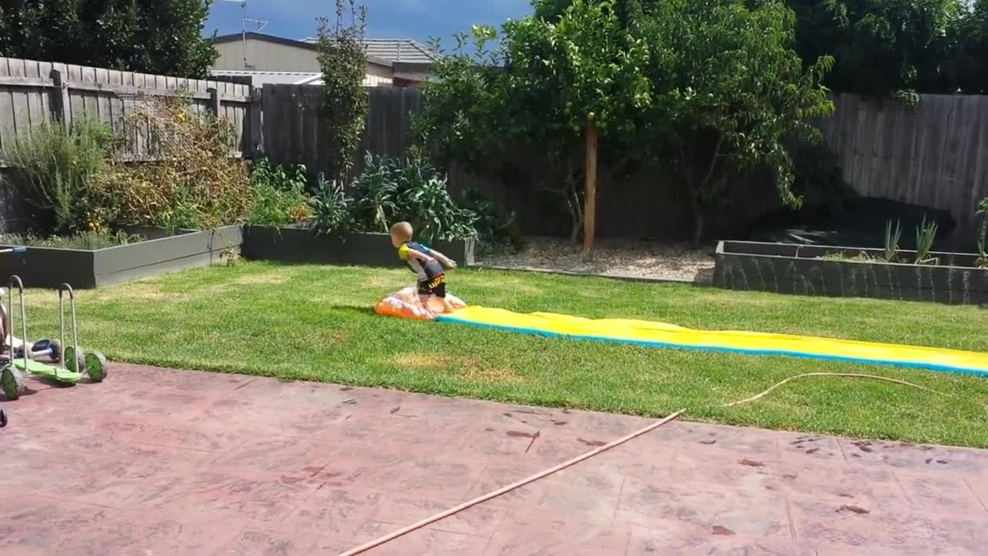 slip u0027n u0027 slider flies off 75 ft jump and overshoots pool jukin
