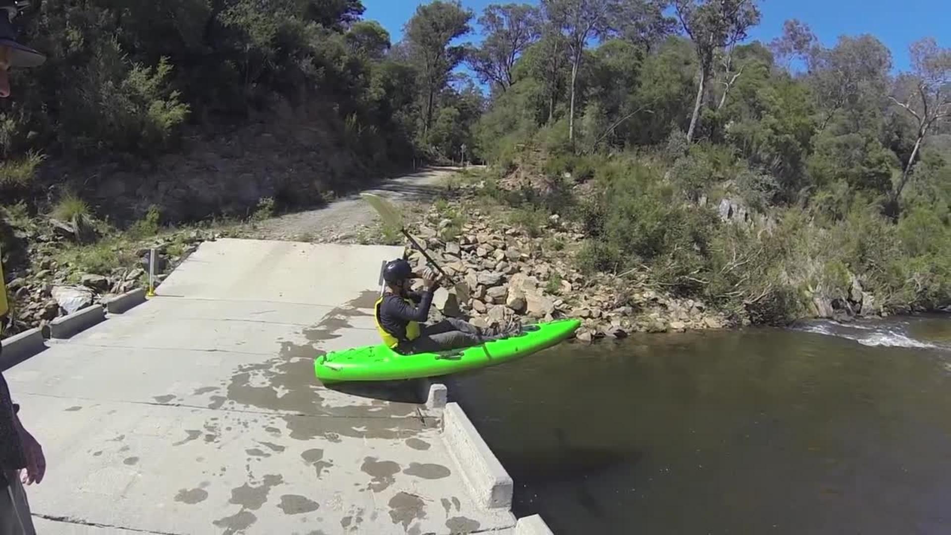 Kayak Launch off Bridge Nosedive   Jukin Media Inc