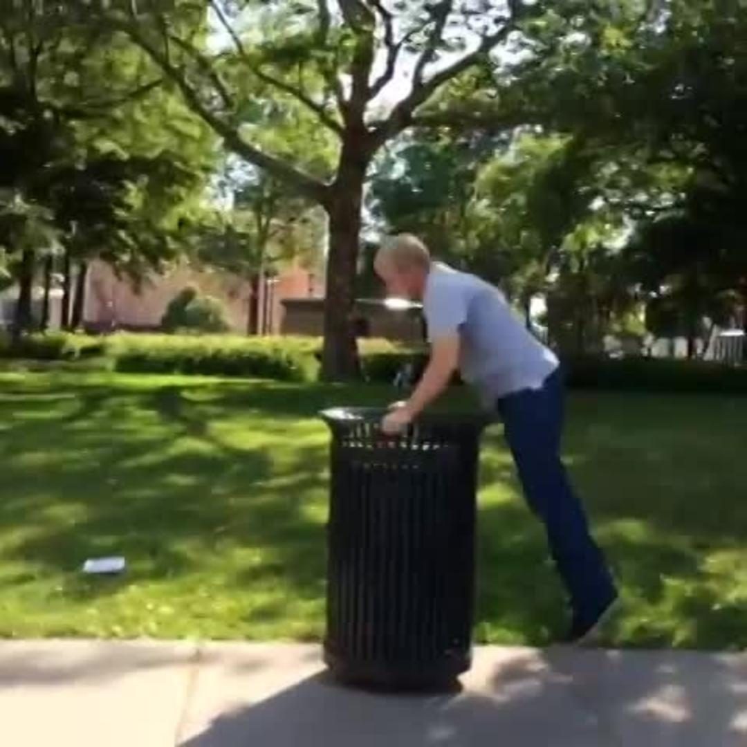 Guy Fails Jumping Off Trash Can Into Pool Jukin Media Inc