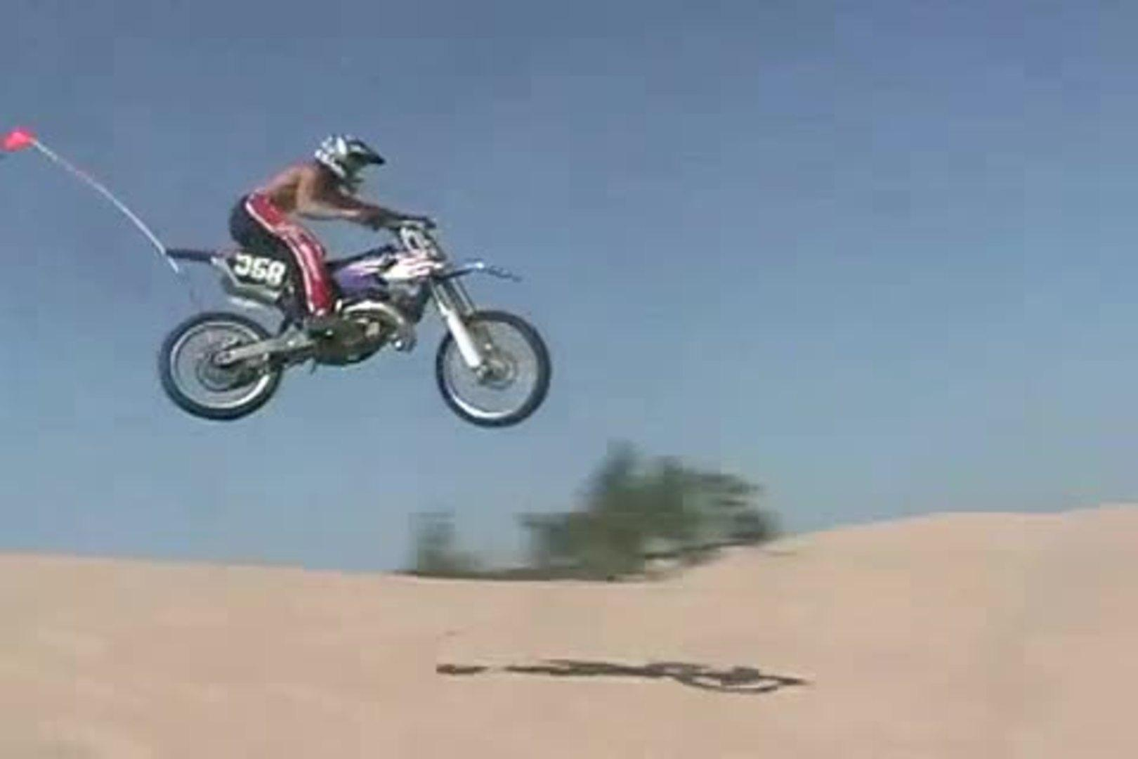 Rider Crashes While Coming Over Hill On Sand Dunes Jukin Media