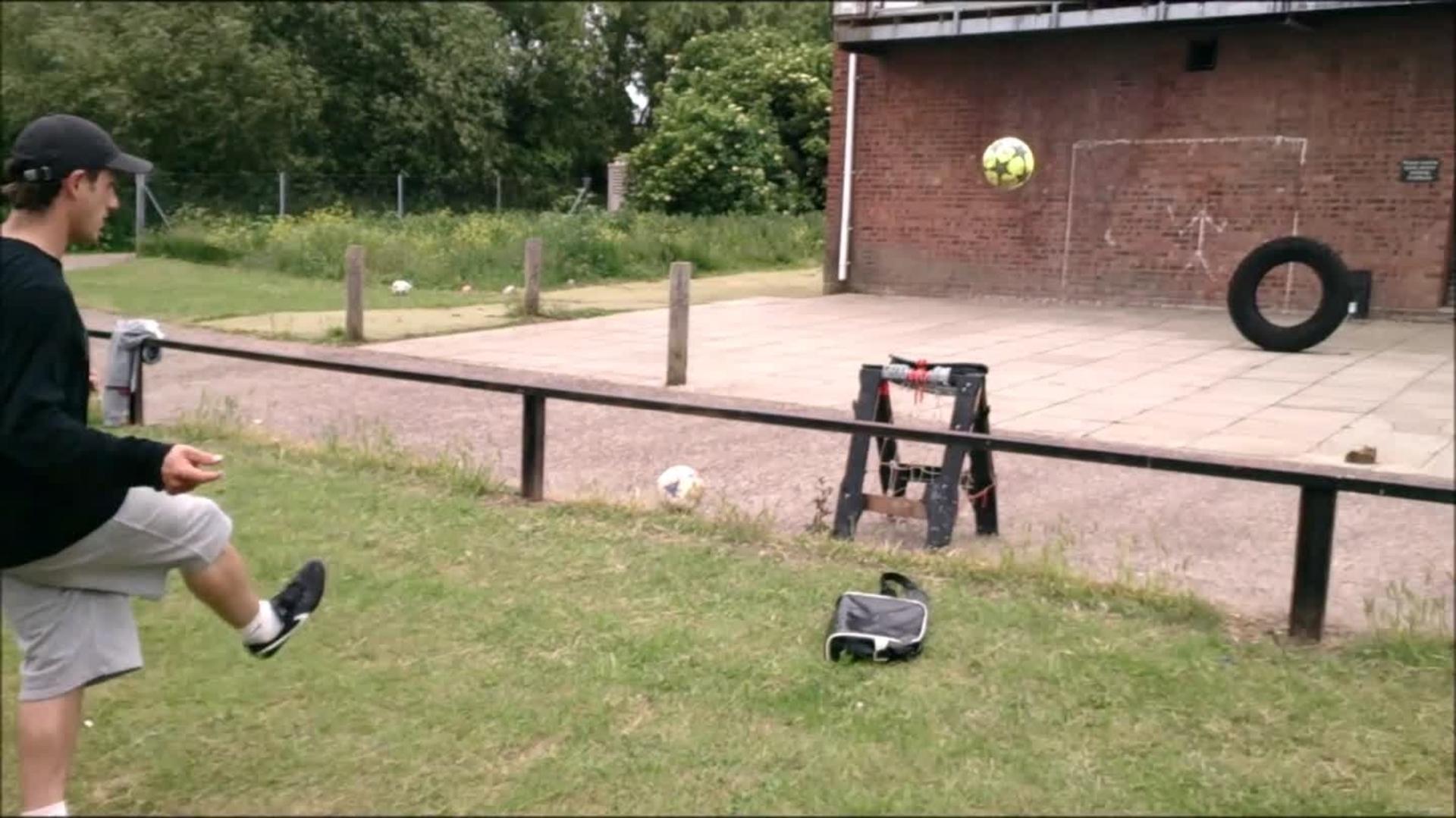 soccer ball basketball net trick shots compilation jukin media