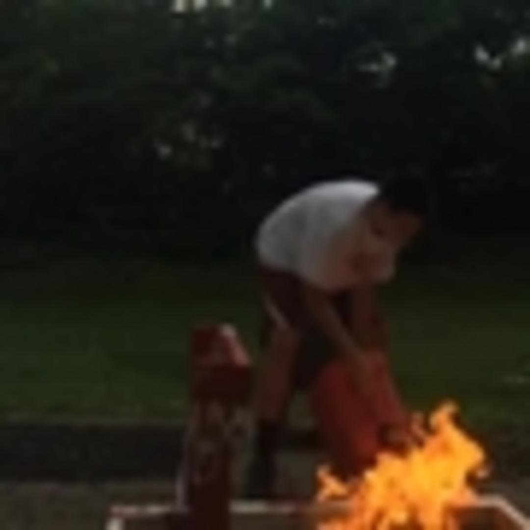 guy fails at poi firedancing in backyard jukin media