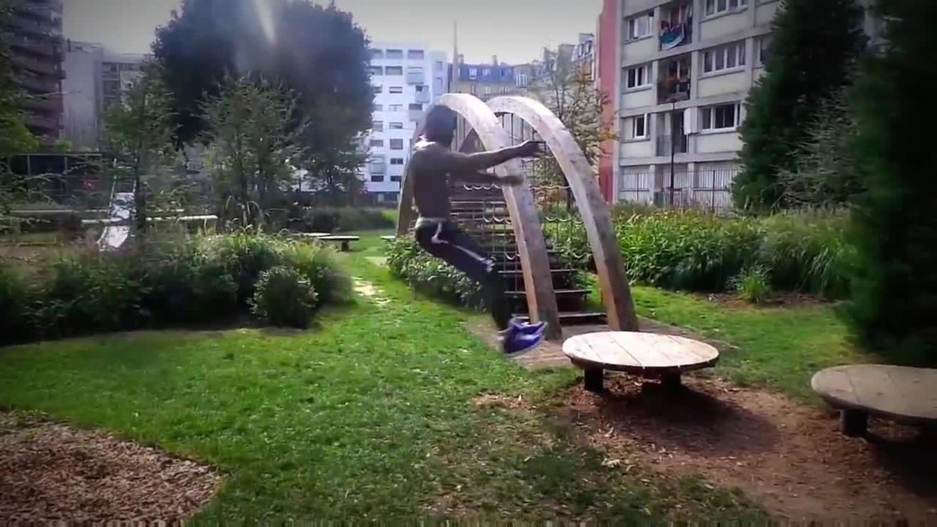 playground parkour flip fail jukin media