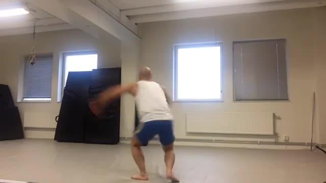Martial Arts Spin Kick Practice | Jukin Media Inc