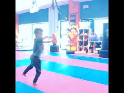 Kid Fights Off Ninjas With Bo Staff | Jukin Media Inc