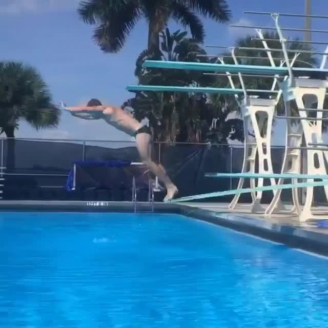 Guy Has Fun on Diving Board | Jukin Media Inc
