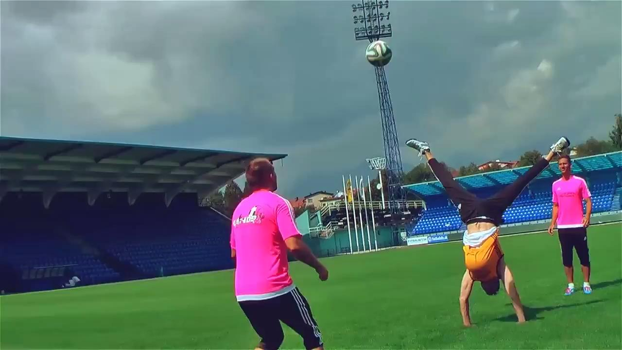 Crew Shows Off Awesome Soccer Ball Tricks