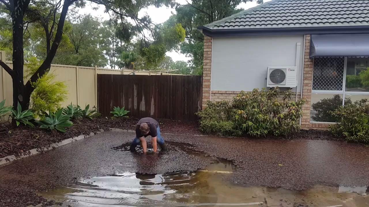 falls in storm drain gutter jukin media