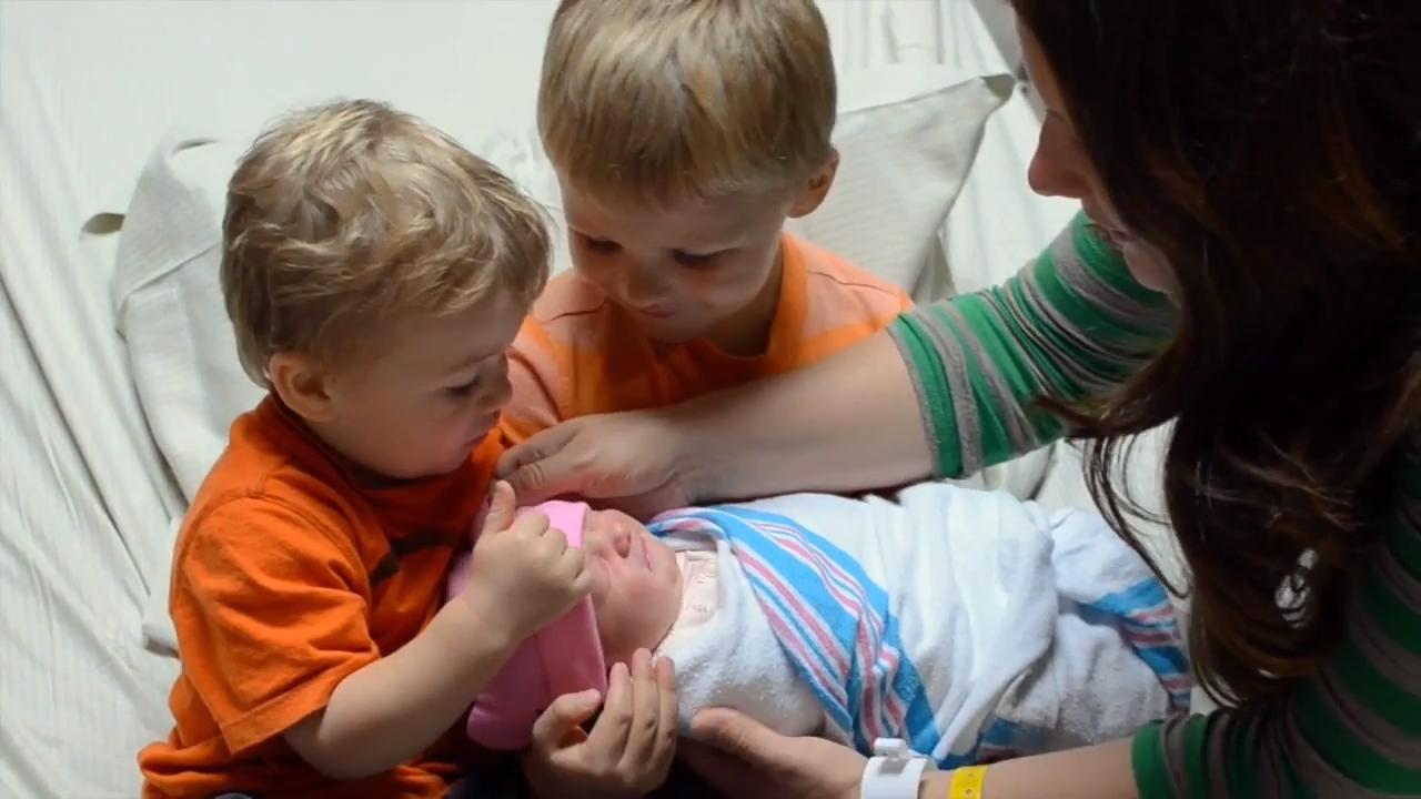 Little Boy Excited to Meet Baby Sister for First Time