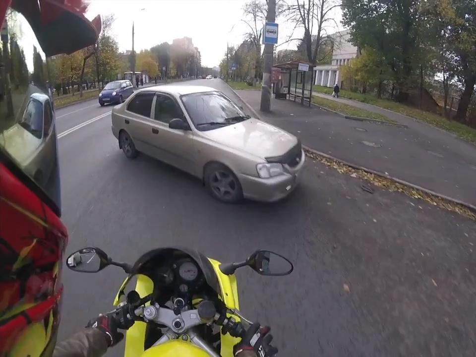 Cars Crash into Motorcyclist | Jukin Media