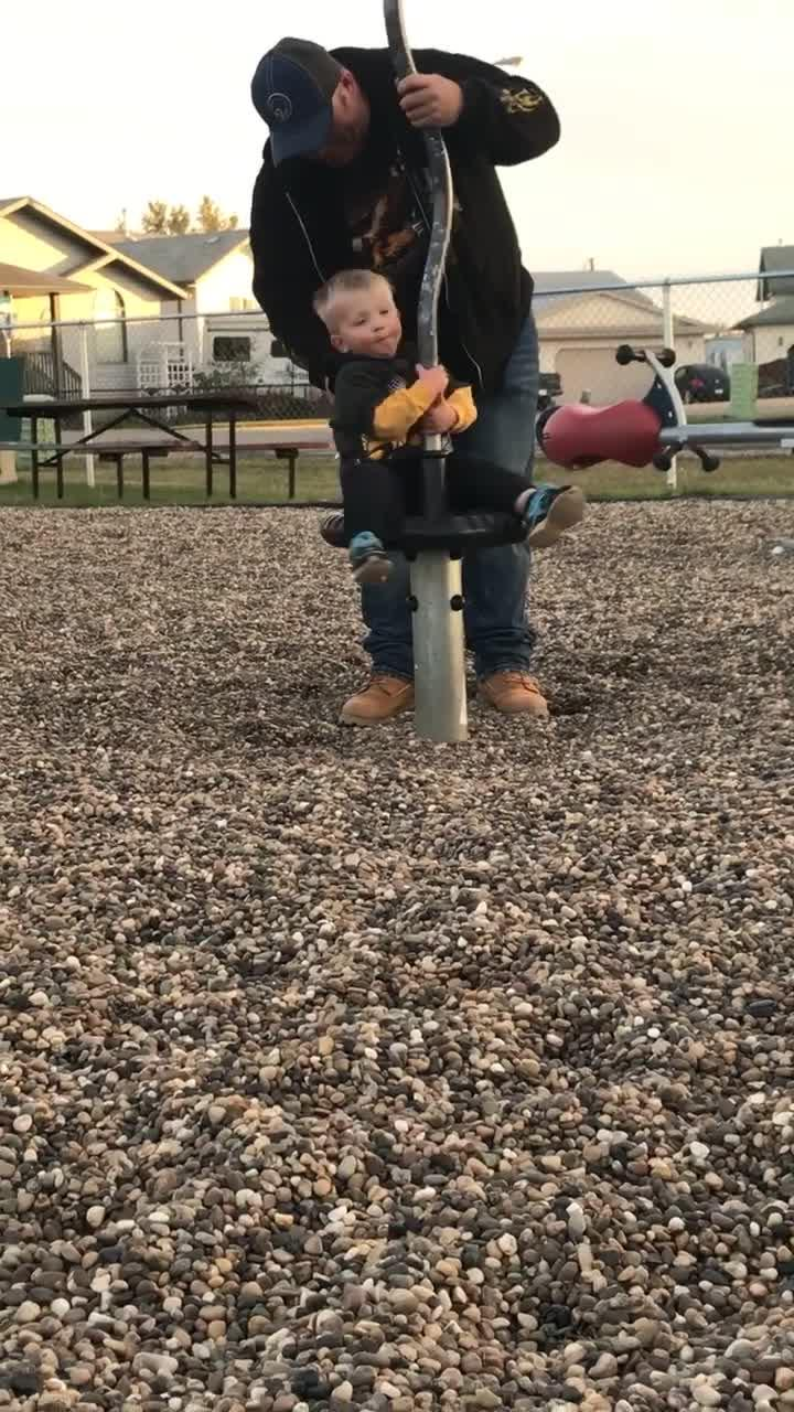 Kid Spins Around on Toy and Falls Over After Standing Up | Jukin