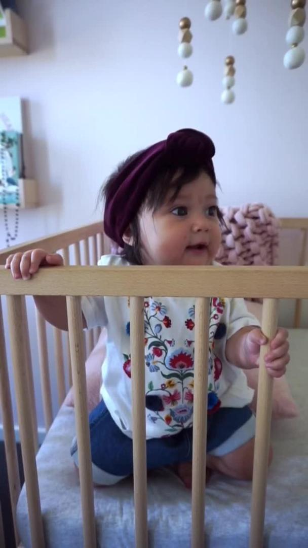 Baby Laughs at Balloons Tied to Hands and Feet | Jukin Media Inc