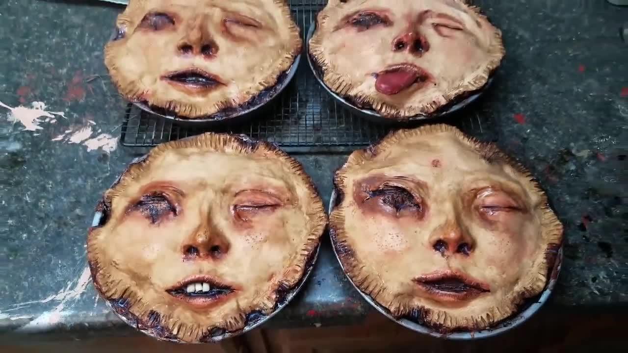 human mask sizzles in frying pan jukin media inc