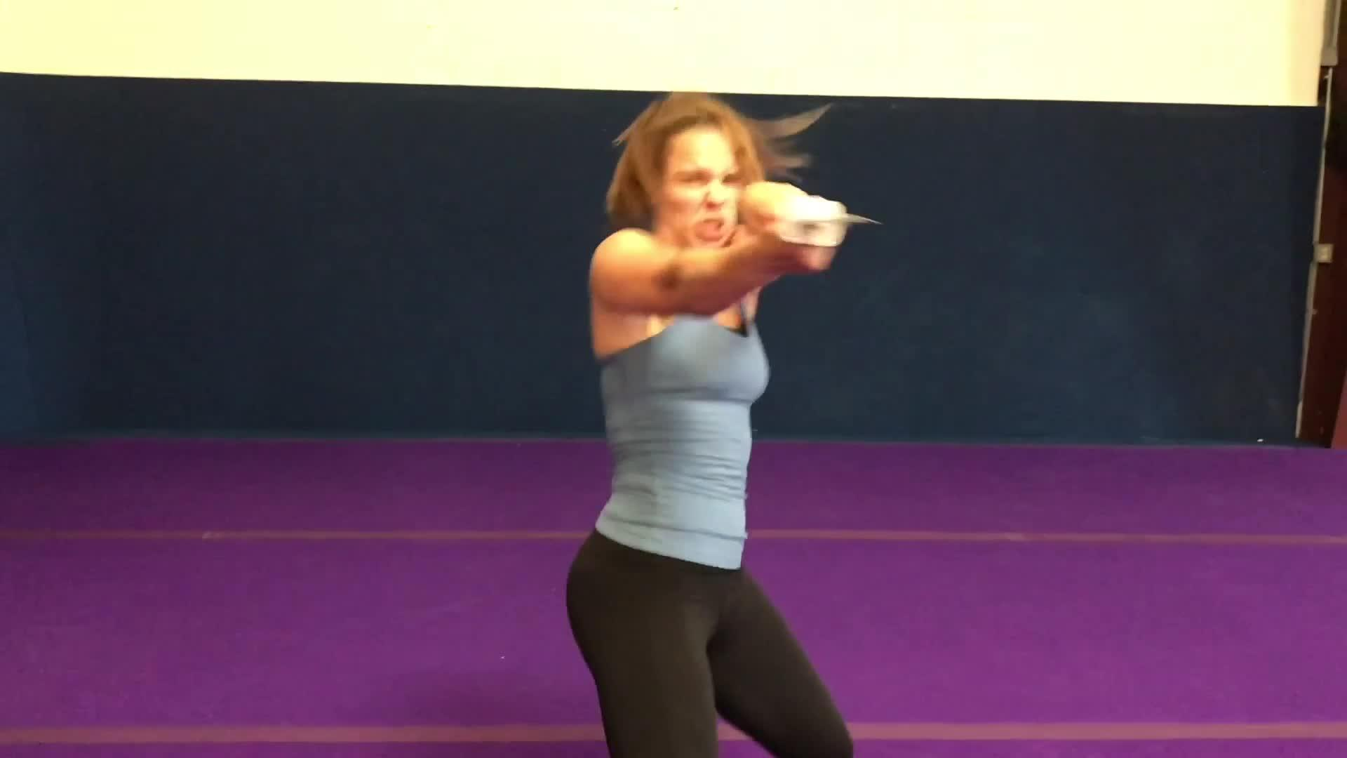 Girl Shows off Extreme Martial Arts Skills with Weapons