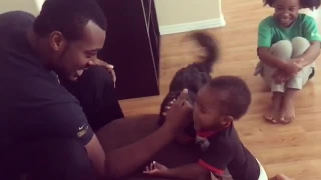 Dad Accidentally Hurts Toddler Son While Playing Basketball Indoors