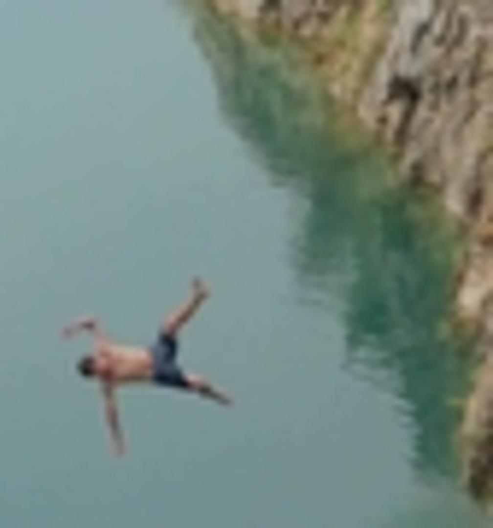 Cliff Jump Fail From Forty Feet | Jukin Media Inc
